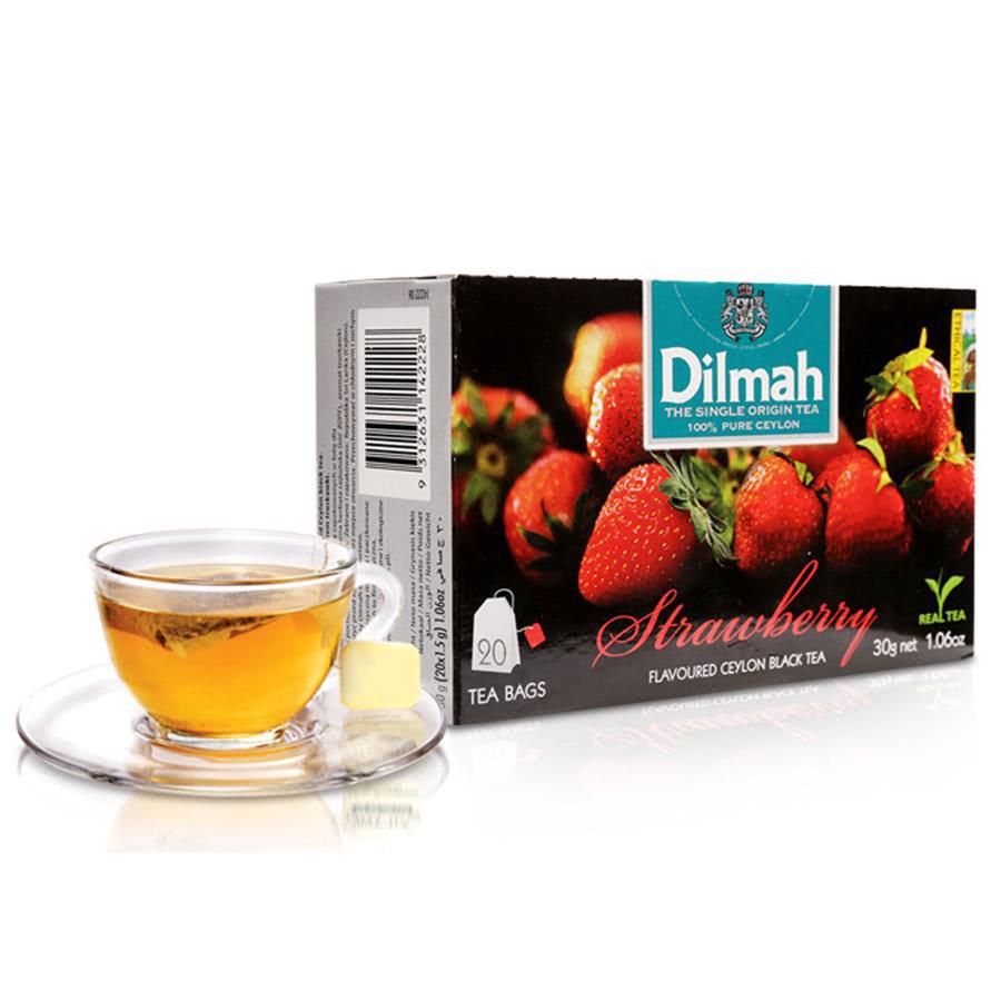 trà túi lọc dilmah dâu
