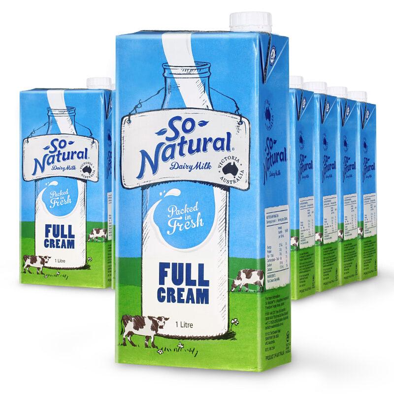 sữa tươi nguyên chất so natural Úc