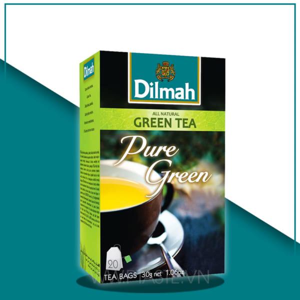 TRÀ DILMAH PURE GREEN TEA – TEA BAGS 2G