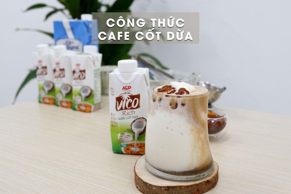công thức cafe cốt dừa
