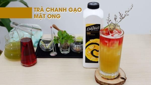 công thức trà chanh gạo mật ong