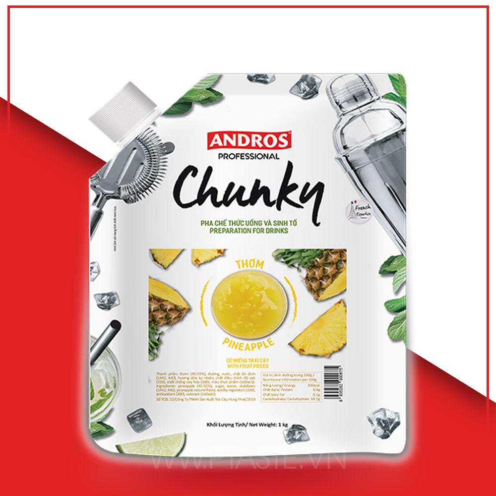 mứt thơm Andros Chunky 1kg