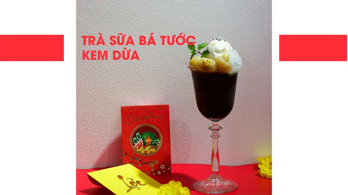 trà sữa bá tước kem dừa