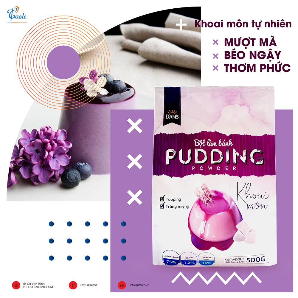 bột làm bánh pudding khoai môn hiệu DANS
