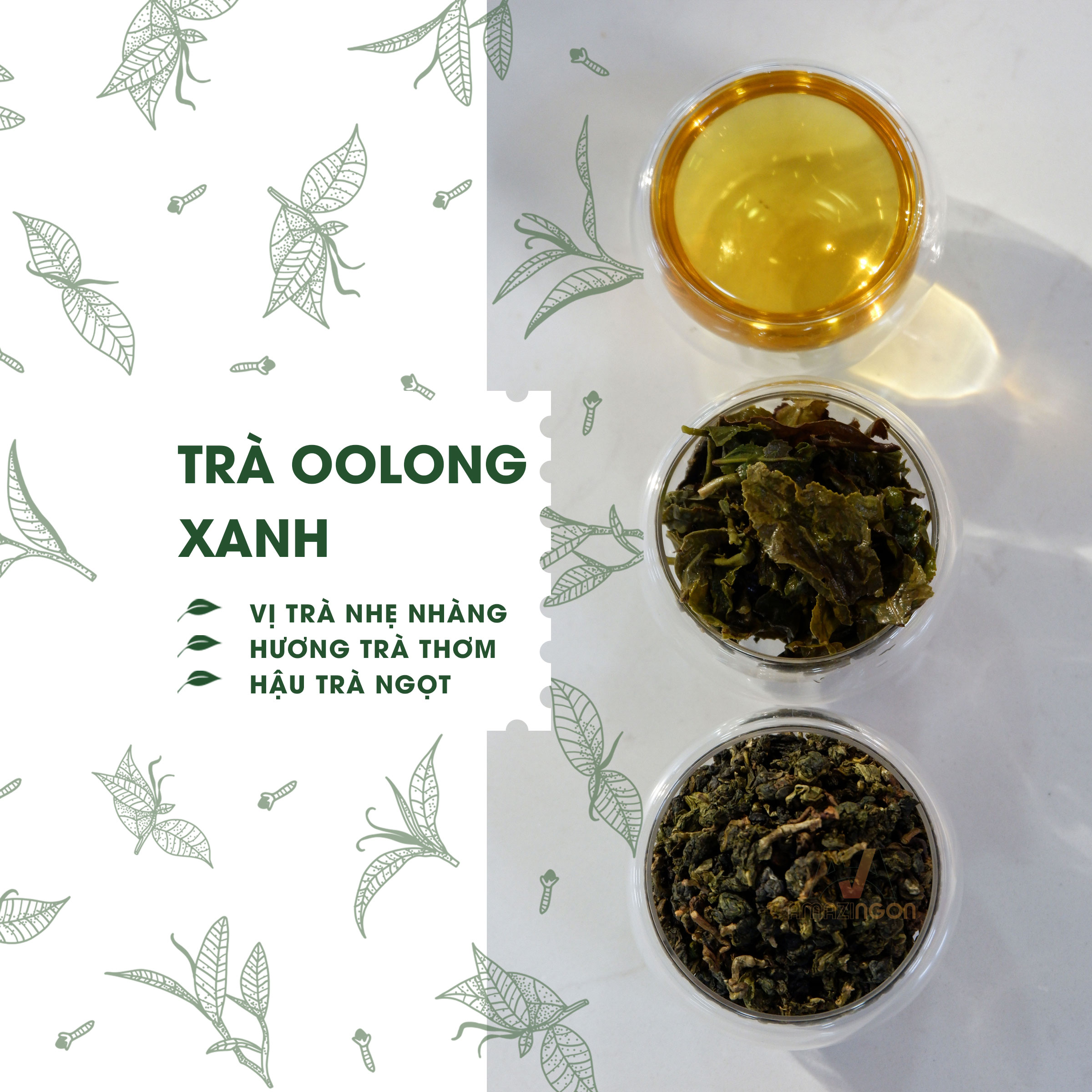 trà oolong xanh AMAZINgon